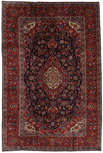 Keshan Rug 204X303 Authentic  Oriental Handknotted Dark Red/Dark Brown (Wool, Persia/Iran)