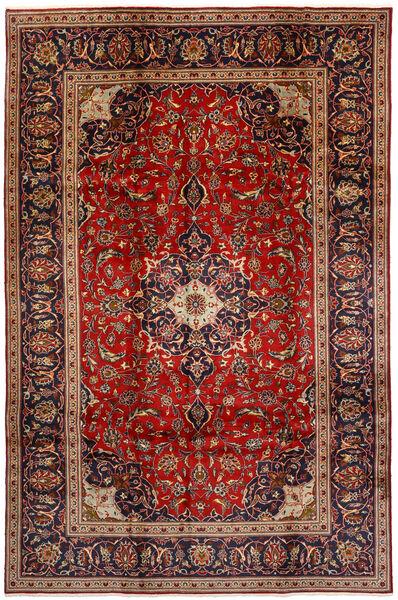 Keshan Rug 196X298 Authentic  Oriental Handknotted Dark Brown/Dark Red (Wool, Persia/Iran)