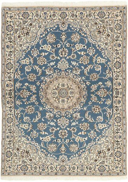 Nain 9La Rug 118X171 Authentic  Oriental Handknotted Light Grey/Beige (Wool/Silk, Persia/Iran)