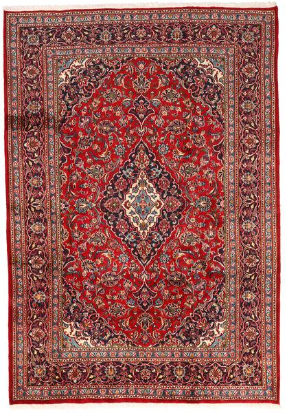 Keshan Rug 200X287 Authentic  Oriental Handknotted Dark Red/Dark Brown (Wool, Persia/Iran)