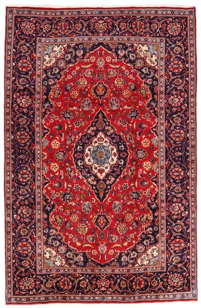 Keshan Rug 194X301 Authentic  Oriental Handknotted Dark Red/Dark Purple (Wool, Persia/Iran)