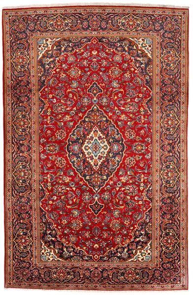 Keshan Rug 200X309 Authentic  Oriental Handknotted Dark Red/Rust Red (Wool, Persia/Iran)