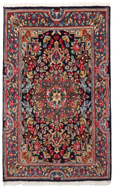 Kerman Rug 90X149 Authentic  Oriental Handknotted Dark Grey/Dark Blue (Wool, Persia/Iran)
