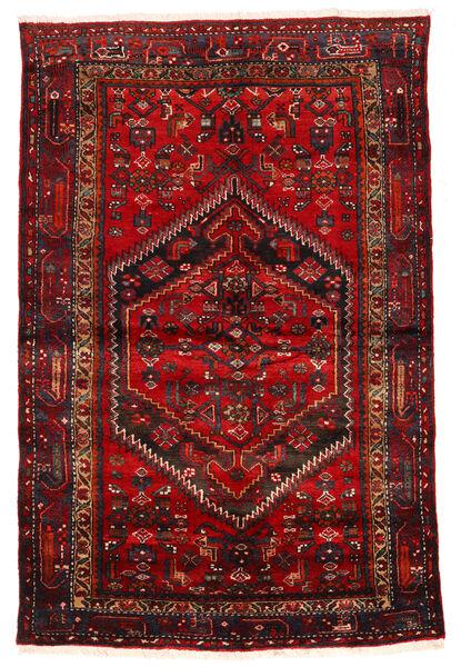 Zanjan Rug 133X203 Authentic  Oriental Handknotted Dark Red/Dark Brown/Rust Red (Wool, Persia/Iran)