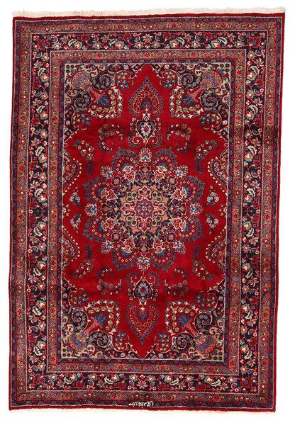 Mashad Rug 200X294 Authentic  Oriental Handknotted Dark Red/Dark Blue (Wool, Persia/Iran)