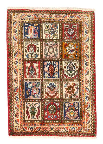 Bakhtiari Collectible Rug 105X150 Authentic  Oriental Handknotted Crimson Red/Dark Grey (Wool, Persia/Iran)
