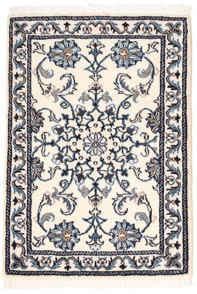 Nain Rug 60X84 Authentic  Oriental Handknotted Light Grey/Beige (Wool, Persia/Iran)