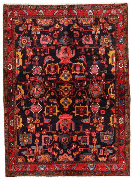 Lillian Rug 146X200 Authentic  Oriental Handknotted Dark Brown/Dark Red (Wool, Persia/Iran)