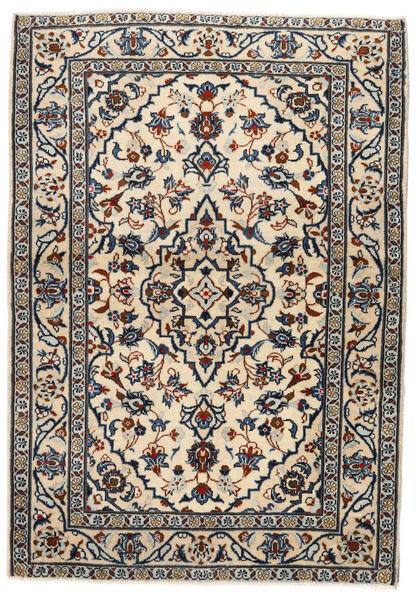 Keshan Rug 103X146 Authentic  Oriental Handknotted Beige/Black/Light Grey (Wool, Persia/Iran)