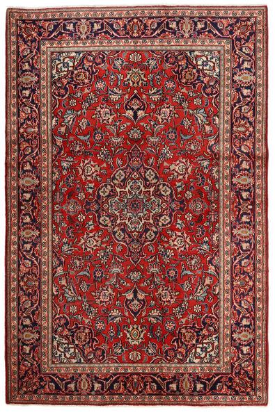 Keshan Rug 132X203 Authentic  Oriental Handknotted Dark Red/Dark Brown (Wool, Persia/Iran)