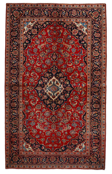 Keshan Rug 151X247 Authentic  Oriental Handknotted Dark Red/Rust Red (Wool, Persia/Iran)