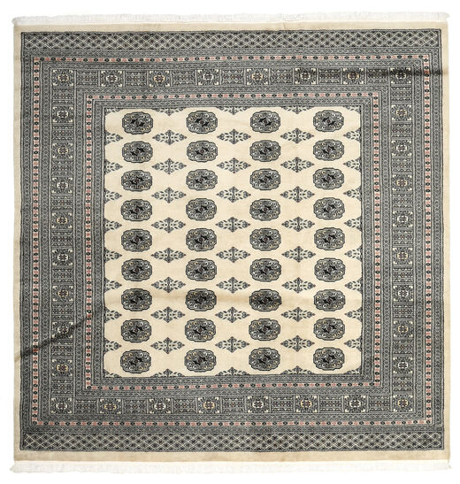 Pakistan Bokhara 2Ply Rug 205X208 Authentic  Oriental Handknotted Square Dark Grey/Light Grey (Wool, Pakistan)