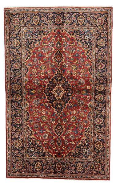 Keshan Rug 136X218 Authentic  Oriental Handknotted Dark Brown/Dark Red (Wool, Persia/Iran)
