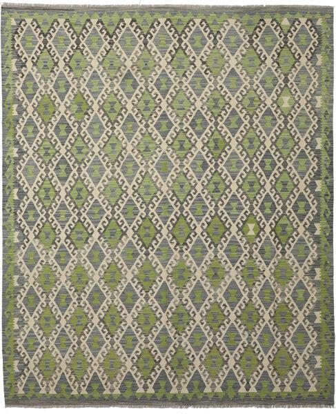 Kilim Afghan Old Style Rug 252X300 Authentic  Oriental Handwoven Dark Grey/Light Green Large (Wool, Afghanistan)
