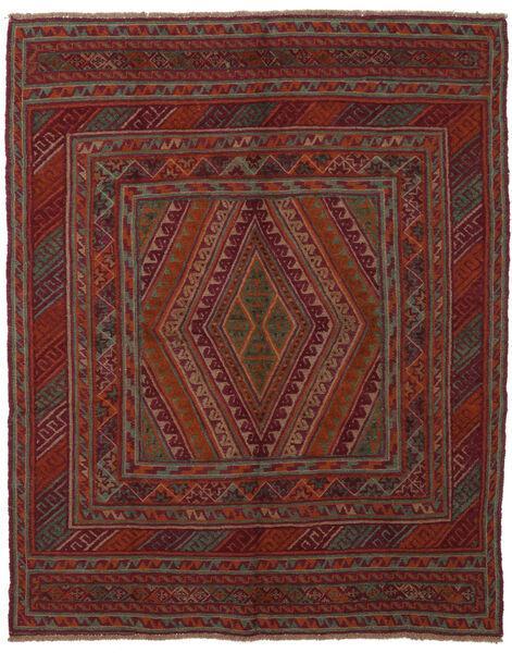 Kilim Golbarjasta Rug 145X185 Authentic  Oriental Handwoven Black/Dark Brown (Wool, Afghanistan)