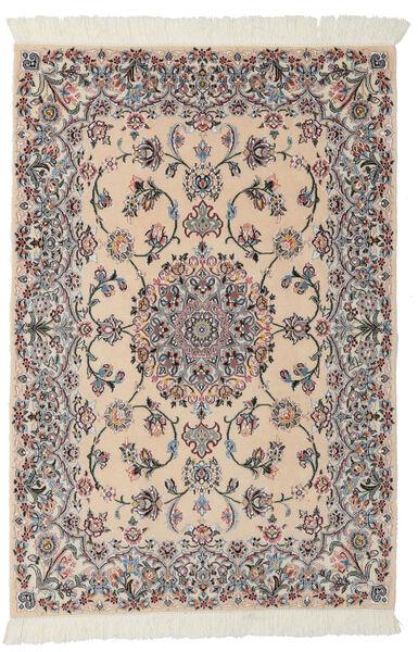 Nain 9La Rug 99X145 Authentic  Oriental Handknotted Light Brown/Black (Wool/Silk, Persia/Iran)