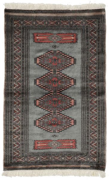 Pakistan Bokhara 3Ply Rug 97X152 Authentic  Oriental Handknotted Black/Dark Grey (Wool, Pakistan)