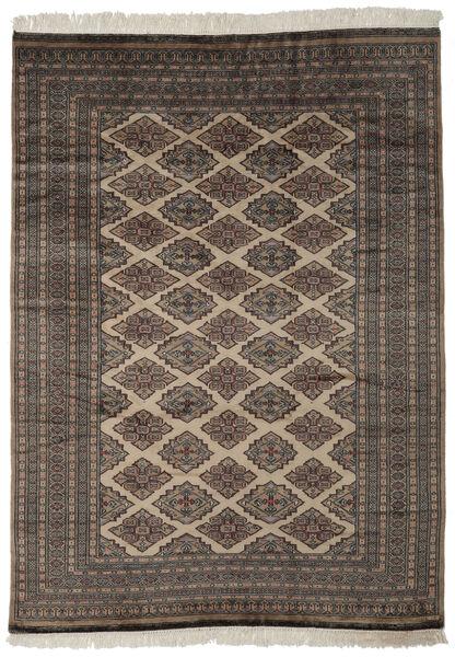 Pakistan Bokhara 2Ply Rug 184X257 Authentic  Oriental Handknotted Black/Dark Brown (Wool, Pakistan)