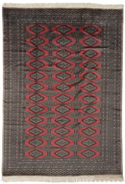 Pakistan Bokhara 2Ply Rug 190X263 Authentic  Oriental Handknotted Black/Dark Brown (Wool, Pakistan)