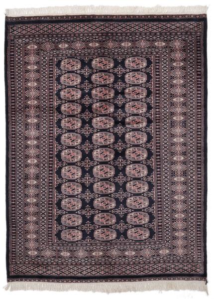 Pakistan Bokhara 2Ply Rug 139X186 Authentic  Oriental Handknotted Black/Dark Red (Wool, Pakistan)