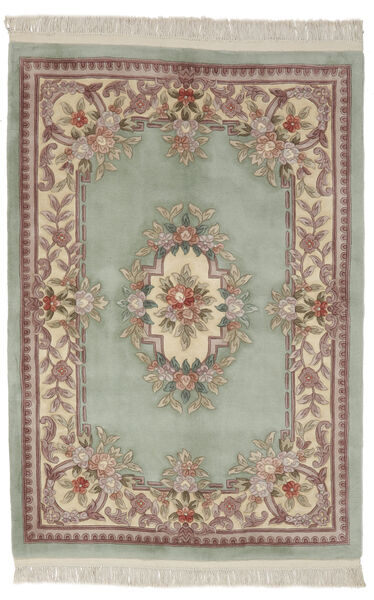 China 90 Line Rug 137X198 Authentic  Oriental Handknotted Dark Brown/Light Brown (Wool, China)