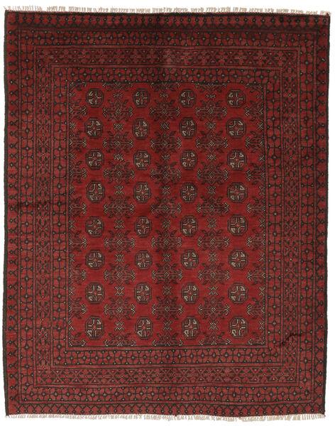 Afghan Rug 155X191 Authentic  Oriental Handknotted Black/Dark Brown (Wool, Afghanistan)