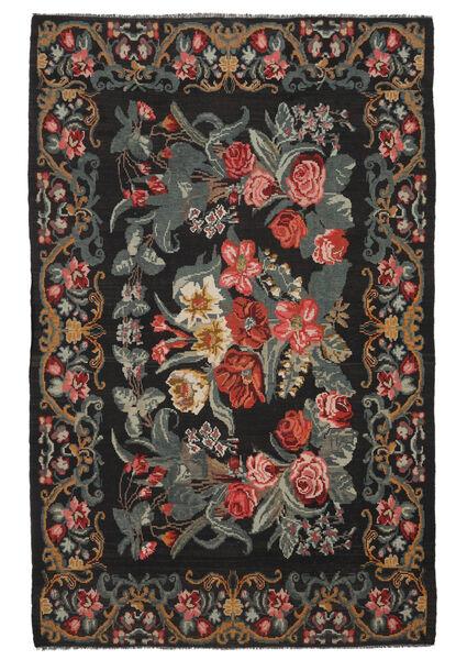 Rose Kelim Moldavia Rug 218X340 Authentic  Oriental Handwoven Black/Dark Brown (Wool, Moldova)