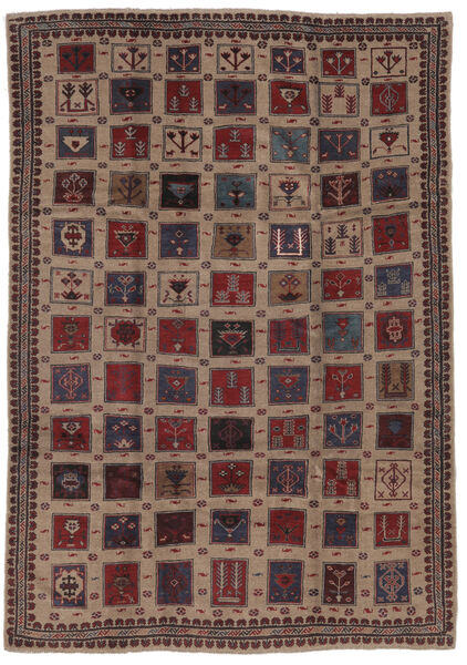 Baluch Rug 196X285 Authentic  Oriental Handknotted Dark Brown/Black (Wool, Afghanistan)