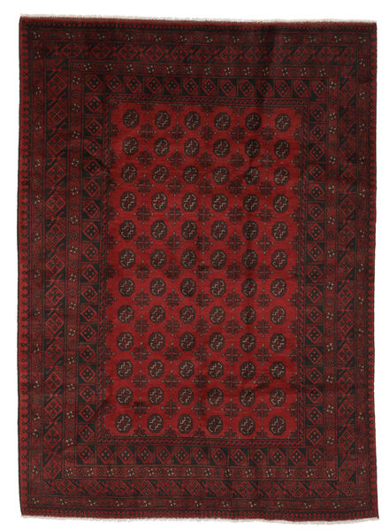 Afghan Rug 203X289 Authentic  Oriental Handknotted Black/White/Creme (Wool, Afghanistan)