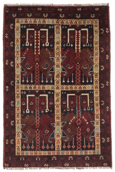 Afghan Khal Mohammadi Rug 77X118 Authentic  Oriental Handknotted Black/Dark Brown (Wool, Afghanistan)