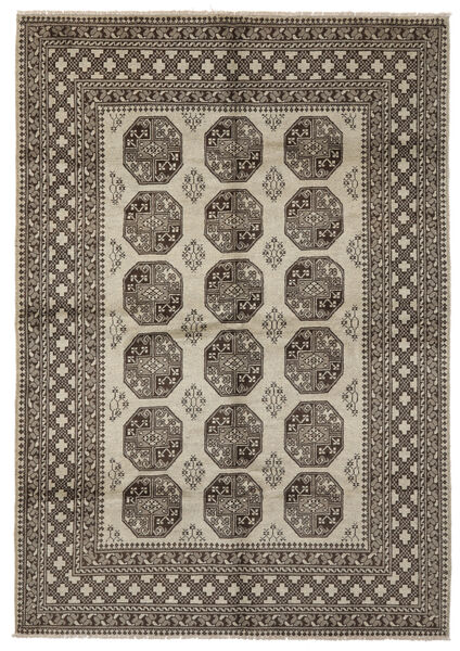 Afghan Rug 206X296 Authentic  Oriental Handknotted Dark Brown/Black (Wool, Afghanistan)