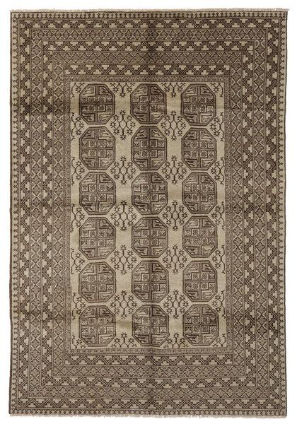 Afghan Rug 202X291 Authentic  Oriental Handknotted Dark Brown/Black (Wool, Afghanistan)