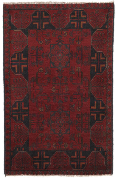 Afghan Khal Mohammadi Rug 79X127 Authentic  Oriental Handknotted Black (Wool, Afghanistan)