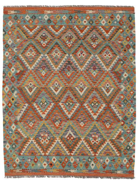Kilim Afghan Old Style Rug 153X196 Authentic  Oriental Handwoven Dark Brown/Black (Wool, Afghanistan)
