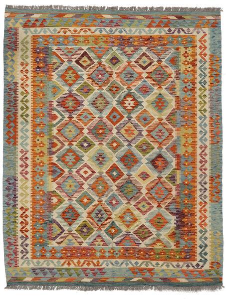 Kilim Afghan Old Style Rug 154X192 Authentic  Oriental Handwoven Dark Brown/Dark Green (Wool, Afghanistan)