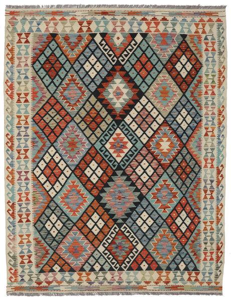 Kilim Afghan Old Style Rug 157X200 Authentic  Oriental Handwoven Dark Brown/Black (Wool, Afghanistan)