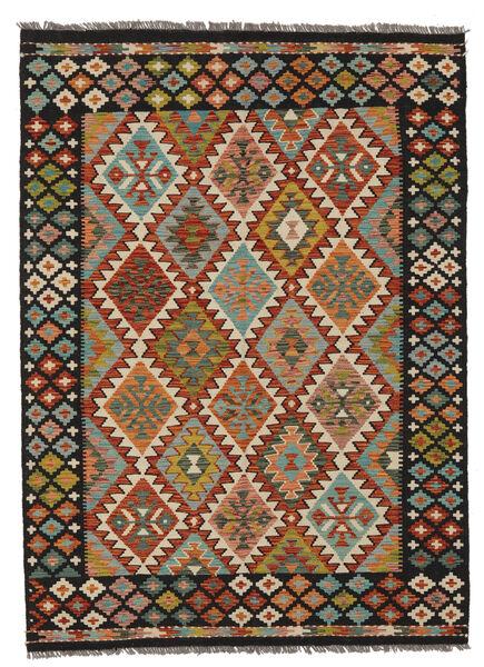Kilim Afghan Old Style Rug 149X205 Authentic  Oriental Handwoven Black/Dark Brown (Wool, Afghanistan)