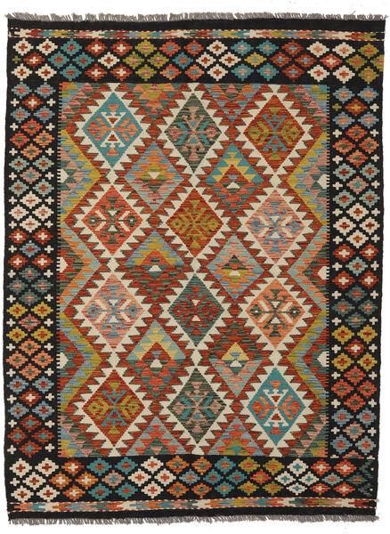 Kilim Afghan Old Style Rug 150X201 Authentic  Oriental Handwoven Black/Dark Brown (Wool, Afghanistan)