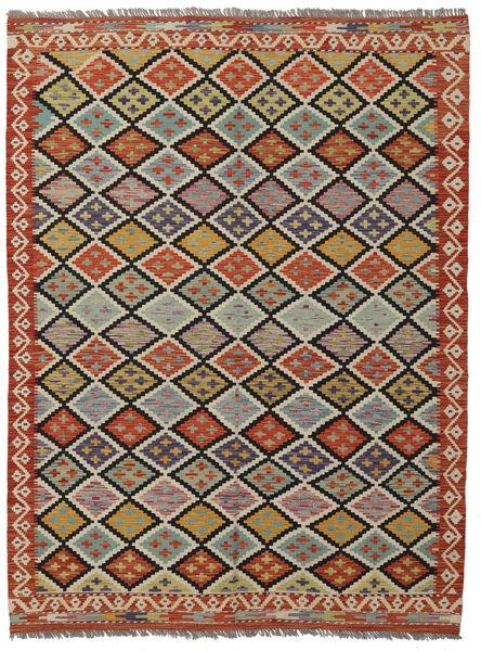 Kilim Afghan Old Style Rug 150X200 Authentic  Oriental Handwoven Dark Brown/Black (Wool, Afghanistan)