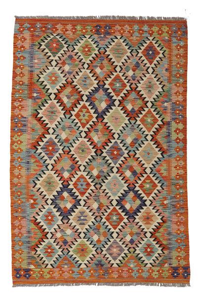 Kilim Afghan Old Style Rug 129X188 Authentic  Oriental Handwoven Dark Brown/White/Creme (Wool, Afghanistan)