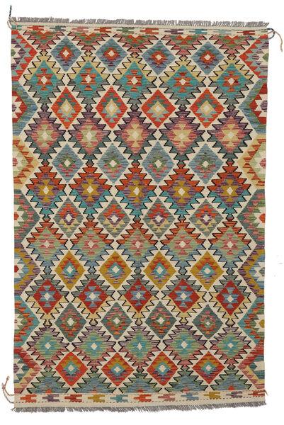 Kilim Afghan Old Style Rug 127X190 Authentic  Oriental Handwoven Black/Dark Green (Wool, Afghanistan)