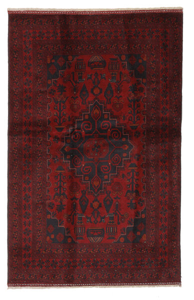 Afghan Khal Mohammadi Rug 126X195 Authentic  Oriental Handknotted Black/White/Creme (Wool, Afghanistan)