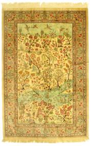 Qum Silk Pictorial Rug 131X198 Authentic  Oriental Handknotted (Silk, Persia/Iran)