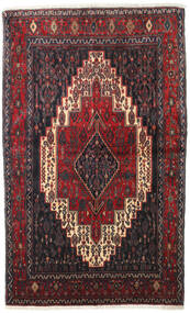 Senneh Rug 128X210 Authentic  Oriental Handknotted Dark Brown/Dark Red (Wool, Persia/Iran)