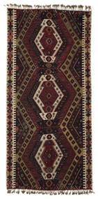 Kilim Malatya Rug 186X391 Authentic  Oriental Handwoven Dark Brown/Light Brown (Wool, Turkey)
