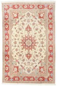 Tabriz 50 Raj Rug 190X293 Authentic Oriental Handknotted Yellow/Beige (Wool/Silk, Persia/Iran)