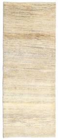 Gabbeh Persia Rug 80X205 Authentic  Modern Handknotted Hallway Runner  Beige/Dark Beige (Wool, Persia/Iran)