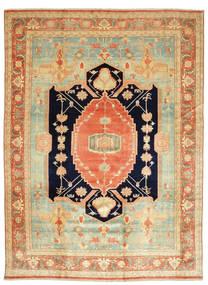 Heriz Rug 405X540 Authentic Oriental Handknotted Dark Beige/Light Green Large (Wool, Persia/Iran)