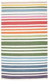 Rainbow Stripe - White Rug 180X280 Authentic  Modern Handwoven Beige/White/Creme (Cotton, India)