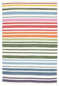 Rainbow Stripe - White Rug 160X230 Authentic  Modern Handwoven White/Creme (Cotton, India)